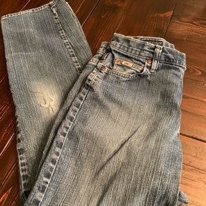 """LEE """"at the waist"""" distressed Denim Jeans"""